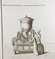 Judaïca Figure des Lavoirs 1848 Rare Gravure ancienne Archéologie Hébraïque