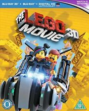 The Lego Movie [Blu-ray 3D + Blu-ray + UV Copy] [2014] [Region Free] New Sealed