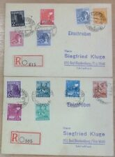 GERMANY (ZONES) 1947/48 SET ON CARDS....STAMPS CAT £150....SCARCE LOT!
