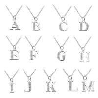 Fashion Lettre Alphabet Collier Cristal Zirconia Pendentif Femme Nouveau Bijoux