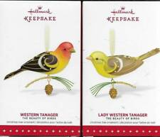 Hallmark Lot of 2 Western Tanager & Lady The Beauty of Birds 2015 New