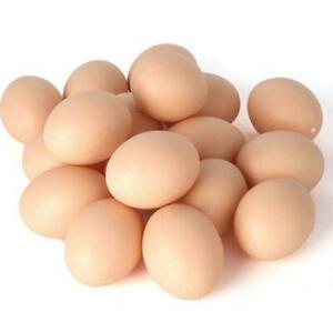 10/20/50pcs Fake Egg Hen Poultry Chicken Joke Prank Plastic Eggs Home Party HOT