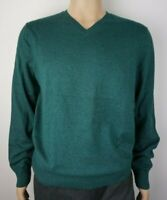Men`s Denver Hayes V-Neck Merino Wool Blend Jumper Size Large Green