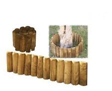 Bordura da giardino mini steccato per aiuole, rollborder in legno impregnato