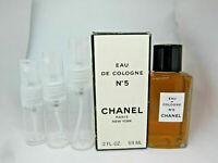 Chanel No 5 Eau de Cologne EDC - SAMPLE - 5 ml 10 ml 15 ml