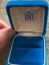 Birks turquoise ring velvet jewelry box