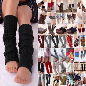 Women's Crochet Knitted Leg Warmers Cuffs Toppers Boot Socks Warm Autumn Winter