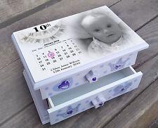 Personalised musical jewellery box, baby girl 10th birthday memory box present