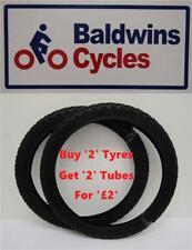 """18"""" x 1.95 Kids Bike / Cycle Black Tyres (50-355)"""