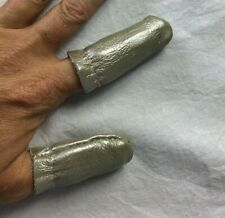 Silver LEATHER Thimble Set ~ Thumb & Finger Guard for Quilting & Hand Sewing