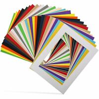 "30-Pack 6.5"" x 8.5"" Picture Matted Frame Boards for 5x7 Photos, Assorted Colors"
