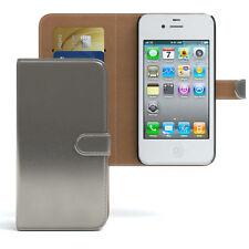 Bolso para Apple iPhone 4/4s case cartera, funda protectora, funda, protección antracita