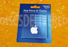 Apple Apps Store & Itunes gift card(s) each 4 quantity $25 each = $100 total
