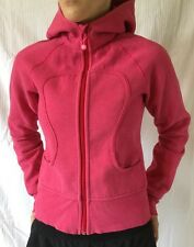 LULULEMON Size 4 Scuba Hoodie Zip Up Sweatshirt Jacket Pink Run Yoga VGUC