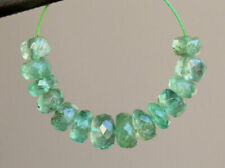 4-5mm. AA Natural Zambian Emerald Medium Green Faceted Rondelle Gemstone Beads