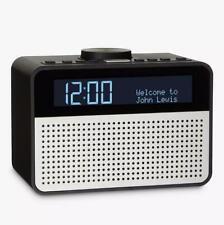 Reloj digital John Lewis astro DAB +/FM radio con alarma y pantalla LCD Negro