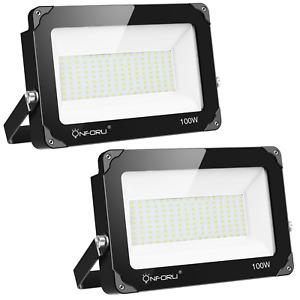 Onforu 2 Pack 100W LED Flood Light, 10000lm 5000K Daylight White, IP66 Super for