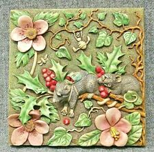 Harmony Kingdom Picturesque Two Blind Mice Byron'S Garden Tile Plaque Pxge1