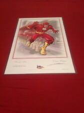 Signed Kurt Lehner Comic Book Artwork Print BARRY ALLEN THE FLASH