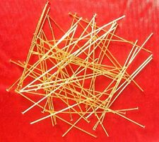"""250 x 2"""" thin hard (0.6mm dia) GP headpins, findings for jewellery making crafts"""