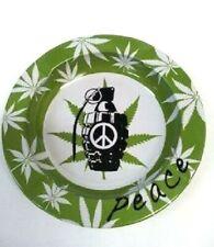 Printed Metal Aluminium Tin Tray Ashtray Tobacco Cigarette Leaf Grenade