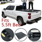 FIT FOR 15-2020 FORD F-150 5.5FT SHORT BED HARD LOCK TRI-FOLD TONNEAU COVER KIT