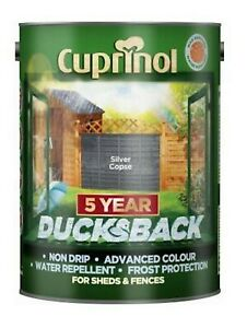 Cuprinol DUCKSBACK 5L Fence Paint All Colors 5 Year Free UPS Next Day P&P