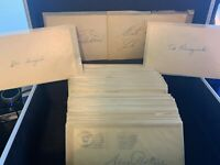 1940-50's Autographed Baseball Government Post Cards Guaranteed Index Cards