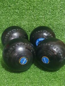 Henselite Super Grip Bowls Size 3 Lawn Crown Green Bowls - VGC