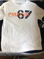 NEW Ralph Lauren Polo Boys White Short Sleeve T-shirt shirt Size 5