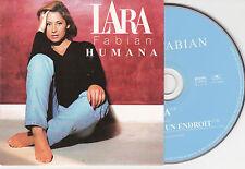 CD CARTONNE CARDSLEEVE LARA FABIAN HUMANA 2T DE 1998 TBE