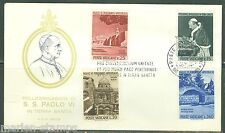 VATICAN CITY 1964 POPE PAUL VI VISIT TO THE HOLY LAND FIRST DAY COVER