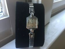 Beautiful Vintage Ladies' Swiss Omega Square 17mm Wristwatch - Running
