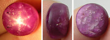 10.15ct  India 100% Natural Untreated Purplish Red Star Ruby Cabochon Gemstone