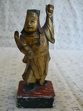 CA 111 Antique Chinese Wood Figure Carving Deity God 2nd of three late 1800