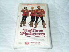 THE 3 THREE MUSKETEERS VHS CLAMSHELL HANNA-BARBERA 1973 ANIME CARTOON MOVIE