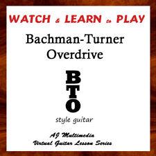 Custom Guitar Lessons, Learn Bachman Turner Ovrdrv, Bto - Dvd Video