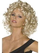 Blonde Sandy Last Scene Wig Adult Womens Smiffys Grease Fancy Dress Costume