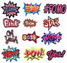 Embroidered Patches Comic Cartoon Word Slogan Iron on Sew on Applique Badges