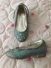 Monsoon Shoes Pumps Girls Blue Infant Size 7 EU 24