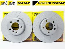 BMW 1 2 3 4 SERIES F20 F22 F30 F32 15- FRONT GENUINE TEXTAR BRAKE DISCS 340mm