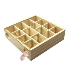 QU Wooden Maze Tunnel Cute Toy for Hamster Mouse Rat Gerbil Small Pet Animals AU