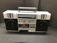 Vintage Sanyo Boombox AM/FM Cassette Tape Model M9825 Radio. Good Condition.