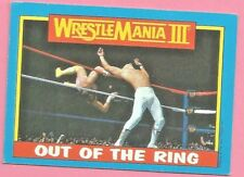 Out of the Ring 1987 TOPPS WRESTLEMANIA III #55 ~ Randy Savage Rare VG