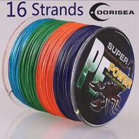 16 Strands 100-2000M 20-300LB Multi-color Hollow pe Dyneema Braided Fishing Line