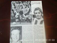 Newcastle united craig + Huddersfield town nicholson + Coventry city B+W A4 page