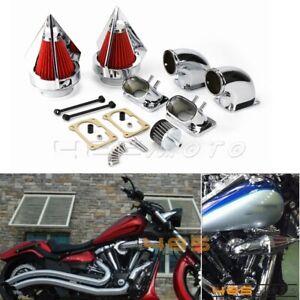 Chrome Engine Spike Air Cleaner Intake Filter For Suzuki Boulevard M109 VZR 1800