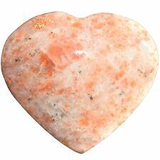 1 MD LABRADORITE Crystal Puffy Heart / Palm Stone Reiki Zenergy Gems 300cts