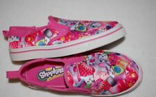 NWT Girls Shoes Shopkins Pink Canvas Slip On Casual Boat Deck Size 13