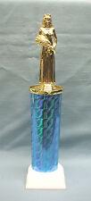 Female trophy award queen topper blue column white base